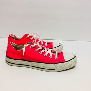 Converse Neon Pink Sneakers. Size 7